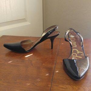 Sam Edelman black patent leather slingbacks 6.5